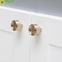 1 pc Gold Button shape  brass knob Cabinet Knobs and Handles Cupboard Door Drawer Furniture Hardware