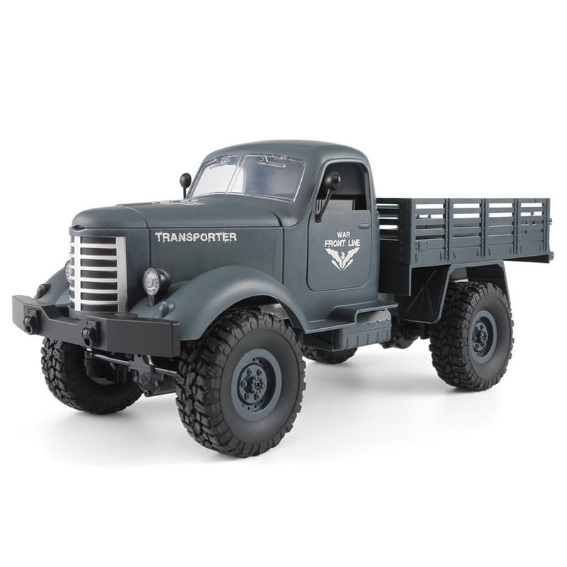 Hard-Working Jjrc Q61 Four-wheel Drive Off-road Climbing Car Model Remote Control Military Pickup Truck Can Pull 3kg Products In Pain Remote Control Toys