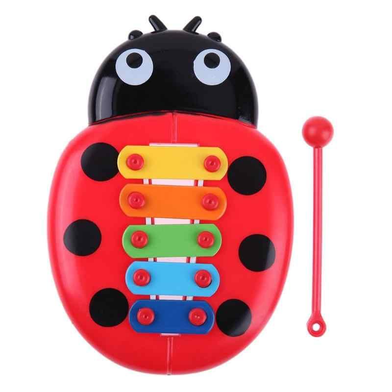 آلات الموسيقى للطفل الحشرات اليد اللعب البيانو الطفل إكسيليفون الطفل التعليم المبكر اللعب الموسيقية xilofuno