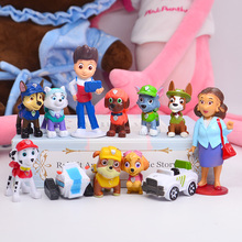 12pcs Paw Patrol Patrulla Canina PVC Action Figure 3-10cm Anime figure puppy patrol Toy Patroling Canine Toys for Children 2D08