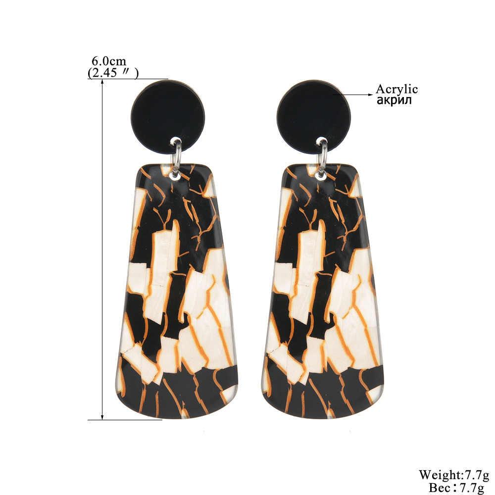 Pendientes colgantes de acrílico MESTILO para mujer, nuevo pendiente largo negro geométrico 2019, accesorios de joyería de moda
