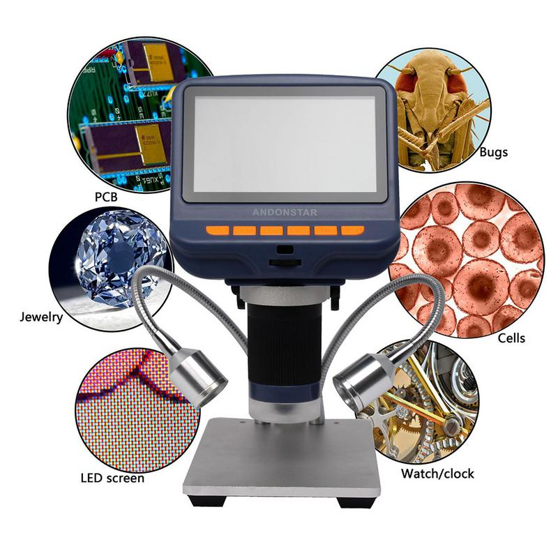 Image 3 - 4.3 Inch LCD Digital Microscope Durable USB Adjustable Light Microscope HD LED Display Screen For Phone Repair Soldering Tools-in Microscopes from Tools