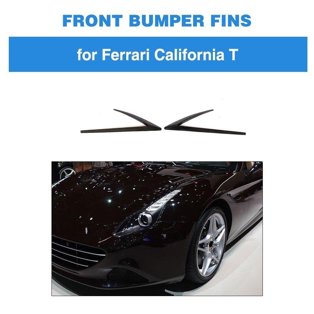 Aileron de pare-chocs avant en Fiber de carbone pour Ferrari California T Base cabriolet 2 portes coupé 2015-2018