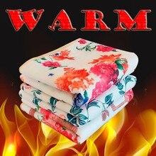 LDAJMW Red Bean Fiber Electric Blanket 220v Thermostat Electric Blanket Safety Protection Electric Mattress Heating Blanket