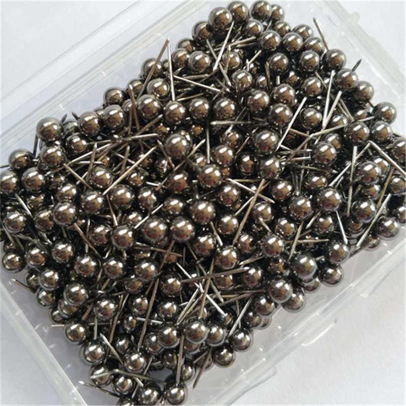 400 Pcs/set Fashion Jarum Jahit Plastik Metalik Pin Bola Jarum Cork Kantor Tetap Jarum Rajut Pernikahan Pin AQ036