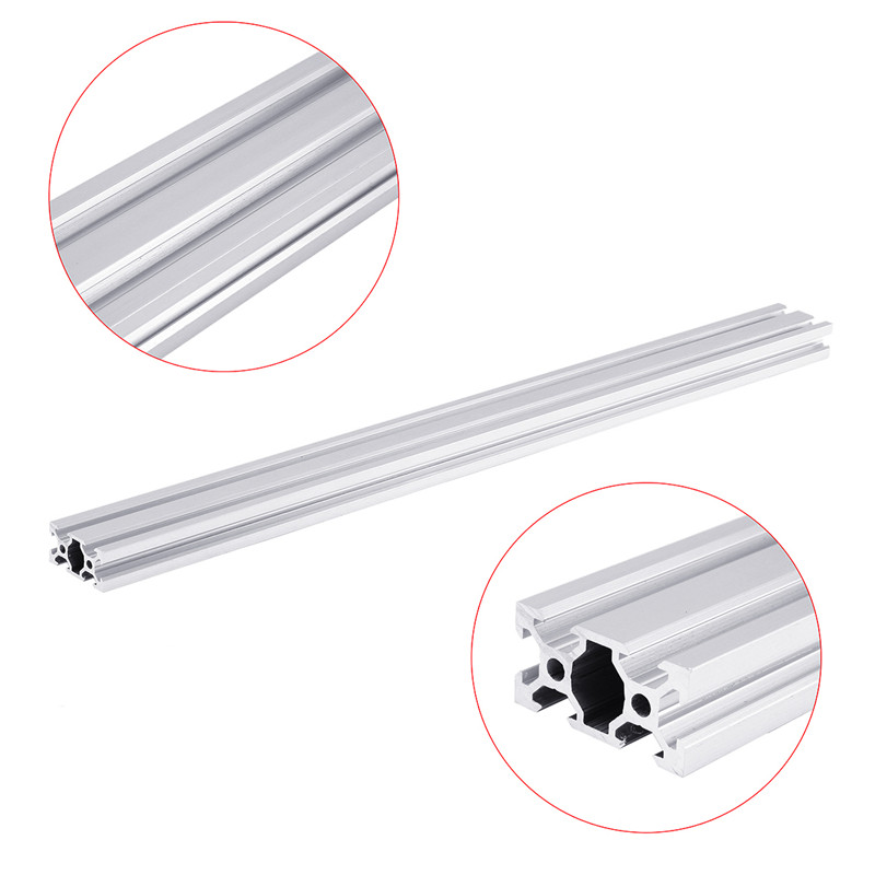 Brand New 150-1000mm Silver 2040 V-Slot Aluminum Profile Extrusion Frame Section Size 20x40mm For CNC Tool DIY