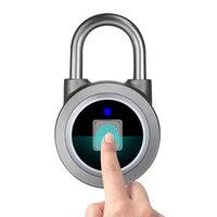 Waterproof Mini portable Bluetooth smart Fingerprint Lock Anti Theft iOS Android APP control door cabinet bag biometric padlock