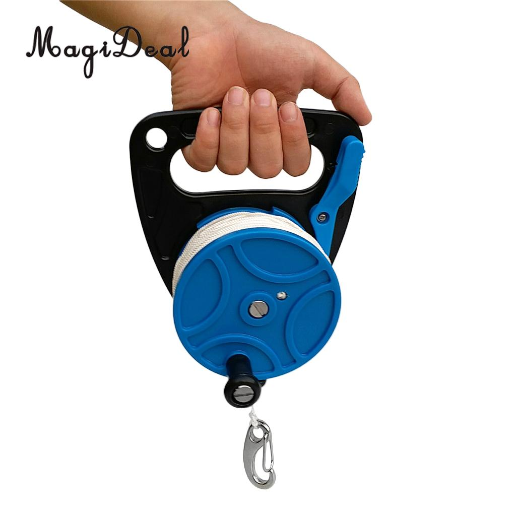 Premium Scuba Dive Diver Reel Kayak Anchor Attached with Line Thumb Stopper