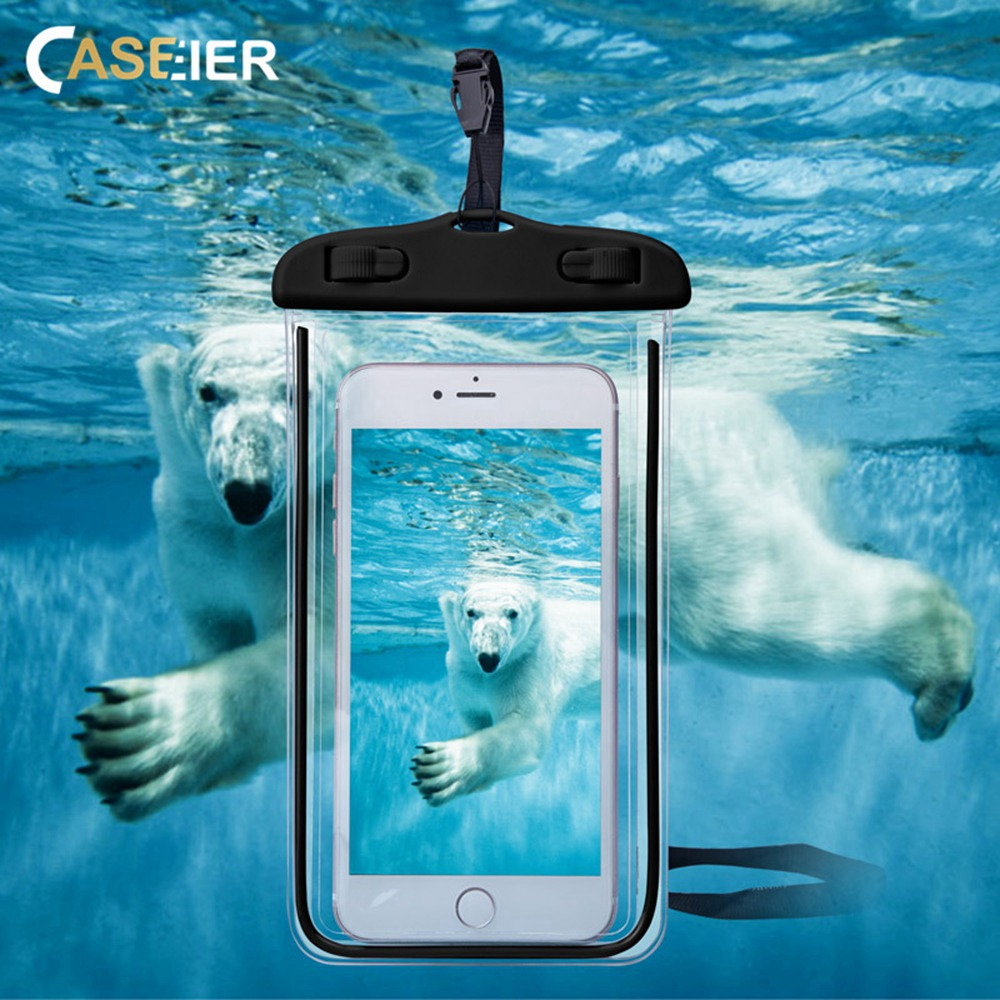 CASEIER Phone-Case Underwater-Photography-Covers Universal Swimming-Water-Protective