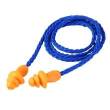 Мягкие силиконовые, со шнуром уха Вилки уши протектор Многоразовые Защиты Слуха Шум наушник с Вилки наушник