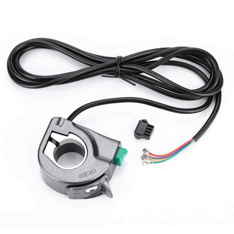 2 in 1 Electric Bicycle Front Light Horn Switch E-BIke Handlebar Mounted Front Lamp Bell Button Switch for Electric Scooter