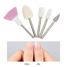 5 шт./компл. Керамика металлическая пилочка для ногтей сверла для маникюра и педикюра, фрезер на заусенцев аксессуар