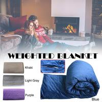 Premium Weighted Blanket And Removable Cover Premium Glass Beads For Adults And Children Human Arc Decompression Blanket