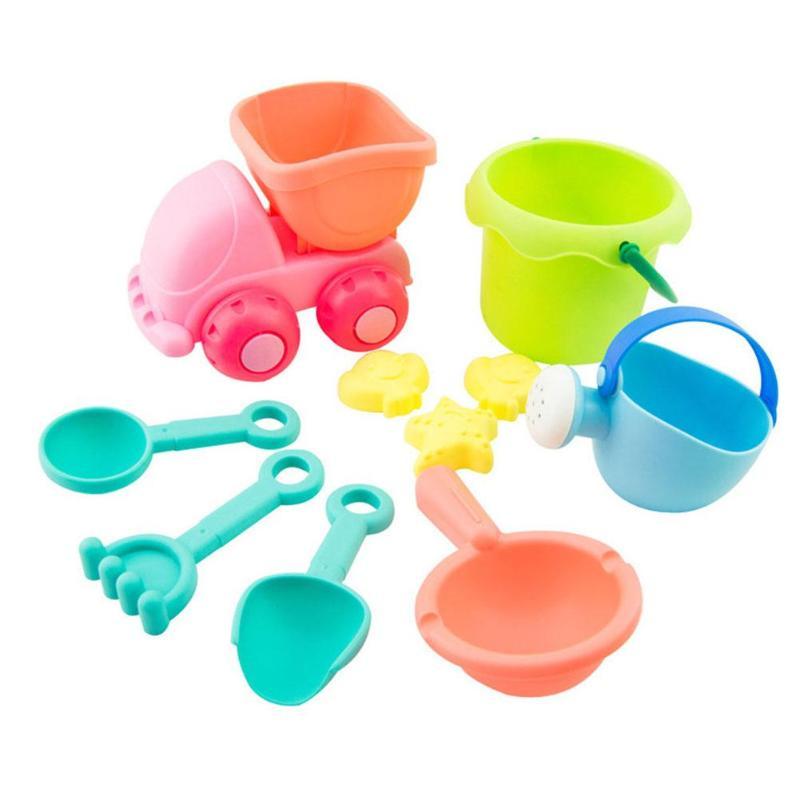 Painstaking 10pcs Children Summer Beach Sand Play Toys Seaside Bucket Shovel Rake Set Children Dredging Tools Classic Toys Dumper Tip Truck Rapid Heat Dissipation Toys & Hobbies