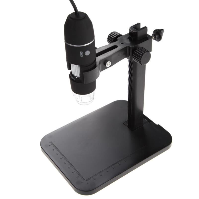 Portátil USB microscopio Digital 1000X8 LED 2MP lupa endoscopio cámara HD CMOS Sensor + ascensor soporte + de calibración regla