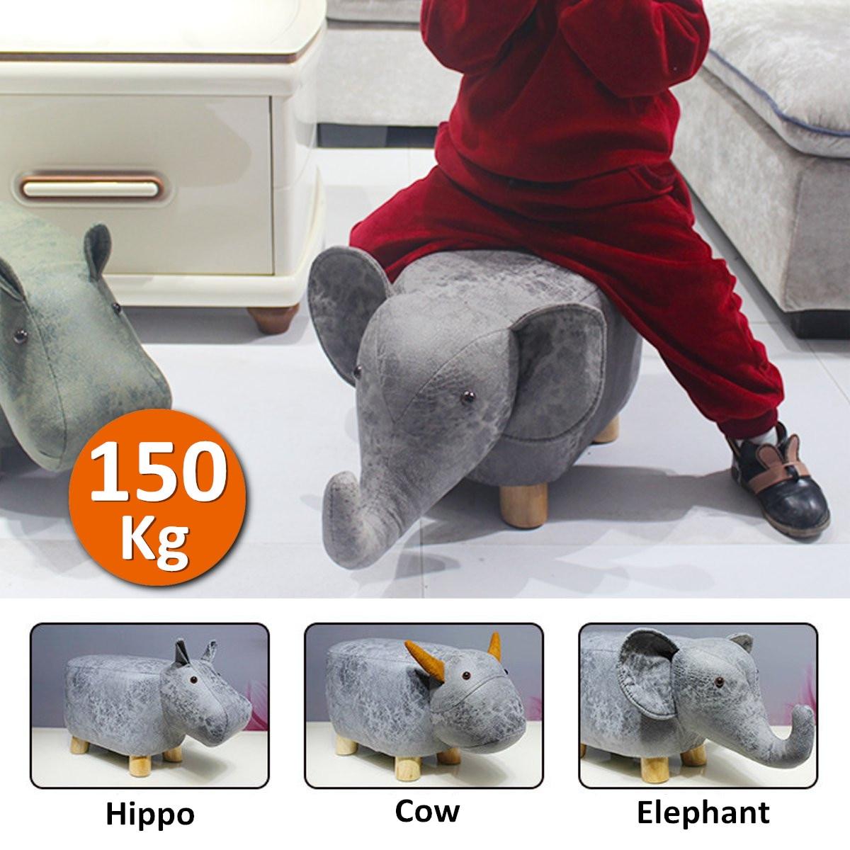 Forme animale repose-pieds Ottomans chaussures canapé rembourré coussin pouf tabourets repos siège maison enfants chambre meubles décor 50x28x24 cm