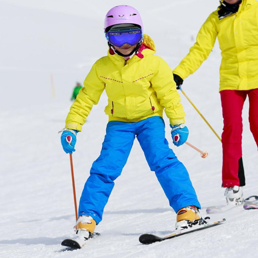 Lunettes de Ski de neige durables pour enfants avec sac PE Double lentille Anti-buée masque coupe-vent lunettes chaudes enfant hiver Ski passe-temps cadeau - 2