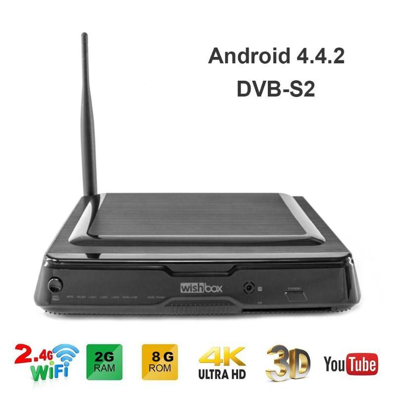 Décodeur DVB-S2 Android TV boîtier décodeur Amlogic S812 2G + 8G CPU Octa Core 450mp GPU lecteur multimédia numérique Mini TV décodeur