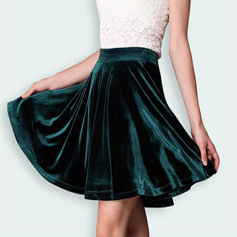 Winter Summer harajuku pleated skirt elastic faldas ladies midi skirts womens Sexy Girl mini short saias feminina jupe