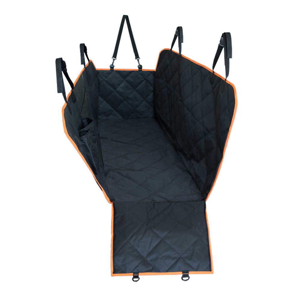 Собака Автокресло Обложка вид сетки Водонепроницаемый Pet Carrier заднего багажник для заднего колеса подушка для гамака протектор с 2 сиденье Ремни сетки