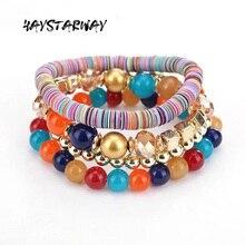 цены HayStarWay Girl Women Female Bracelet Birthday Gift Jewelry Fashion Wedding Party Hand Chain Bohemia Multilayer Handwork