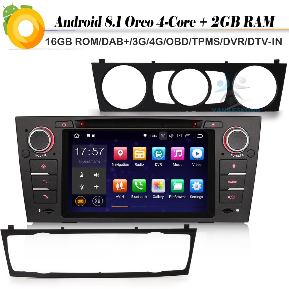 dab quad core android 8 1 autoradio car stereo gps dvd sat. Black Bedroom Furniture Sets. Home Design Ideas