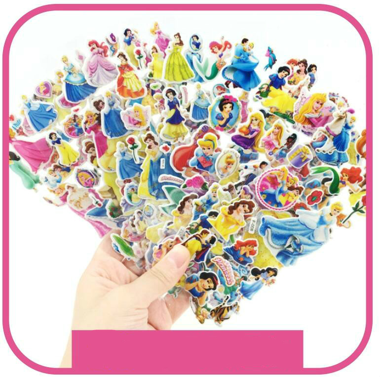 DIY 10 Sheets 3d Puffy Bubble Stickers Cartoon Princess Cat Waterpoof Baby Toys For Children Kids Boy Girl
