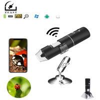 2MP Full HD 1080P WIFI USB Digital 1000x Microscope Magnifier Camera for ios Android Rechargeable Lithium battery 8 LED lights