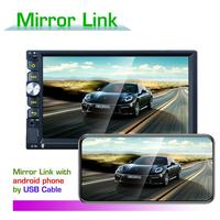 DC12V Universal 7inch Colorful Backlight Car Bluetooth HD Player Mobile Image Mirror Rearview Video Car Player