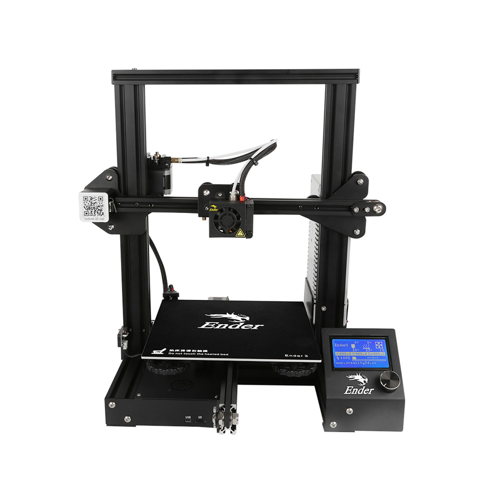 Image 3 - CREALITY 3D Printer Ender 3 DIY Kit 3D printer Large Size I3 mini Ender 3 V slot Resume Power Failure Printing MeanWell Power-in 3D Printers from Computer & Office