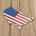 Новый 3D Авто Стикеры металлический США Соединенные Штаты Америки Флаг американская карта Наклейка эмблемы автомобиля Стикеры s мото Авто Д...