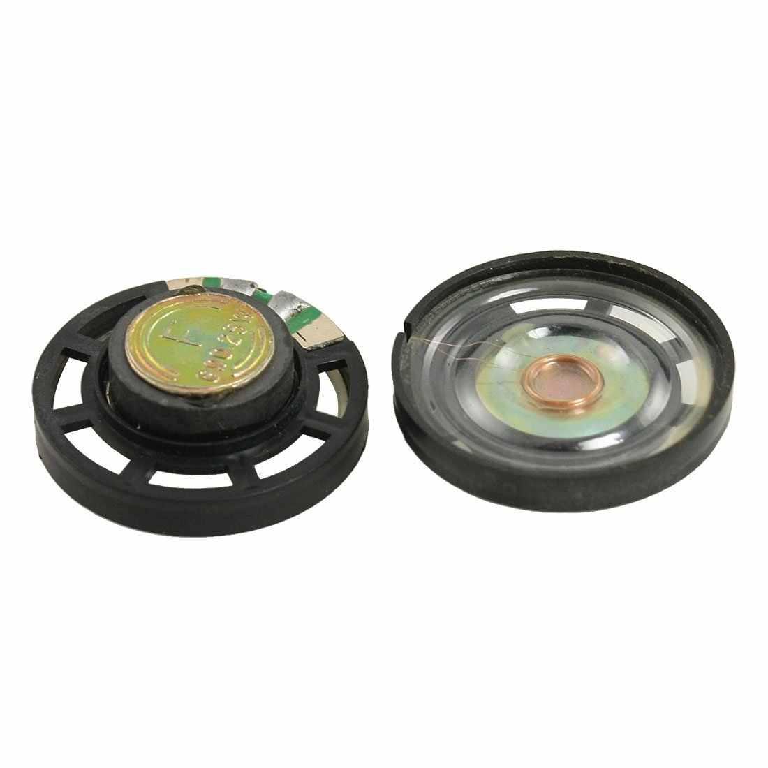 """1.1 """"externe magnétique Type rond mince en plastique Shell haut-parleur 8 ohms 0.25 W 2 pièces"""
