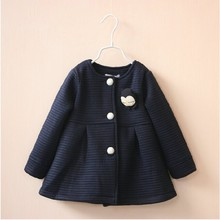 цена spring autumn girl jackets for girls outerwear coats navy baby fashion coats kids clothing children clothes boutiques онлайн в 2017 году