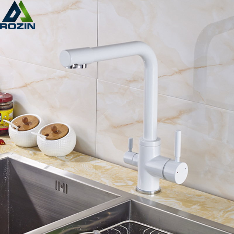 Commercial Water Filtration Faucet for Under Sink Water Filter System WENKEN Drinking Water Faucet Stainless Steel Brushed Nickel Kitchen Sink Drinking Water Purifier Faucet