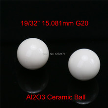 "19/32"" 15.081mm Alumina Oxide Ceramic Ball Al2O3 G20 5PCS Used for Bearing Pump,Valve,Flow-Met 15.081mm Ceramic Ball"