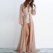 Women Casual Vintage Kimono Cardigan Ladies 2019 Summer Long Chiffon Loose Solid Blouse Tops Black Clothing