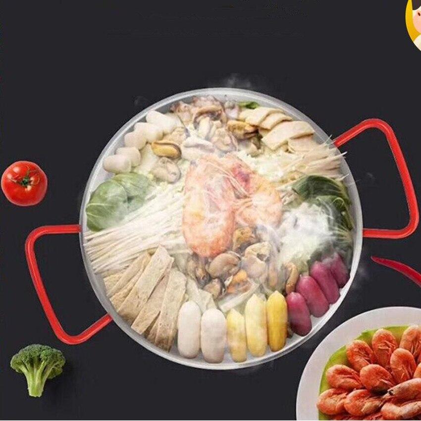 1PCS Spanish Paella Pan Stainless Steel Korean Fried Chicken Dish Seafood Dish Cheese Cooker Pot