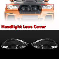 Left/Right Car Headlight Lens Cover In Shell Head Lamp Cover For BMW E71 X6 2008 2014 Automobiles Headlamp Lense Cover Kit