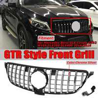 For Mercedes For Benz GLE For Coupe C292 W166 GLE350 GLE400 2016 2018 GTR GT R Style Car Front Grille Grill Cover Chrome / Black