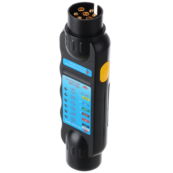 цена на 7 Pin Car Trailer Towing Light Cable Circuit Plug Socket 12V Connector Tester Signal Test Diagnostic Tool