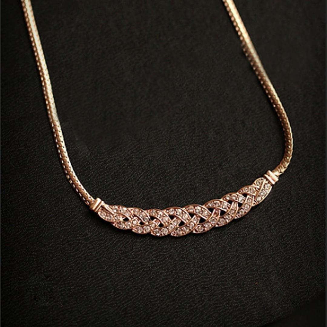 Luxury Charms Crystal Rhinestone Bib Pendant Necklace For Women Statement Wedding Jewelry Shellhard Rose Gold Chain femme bijoux