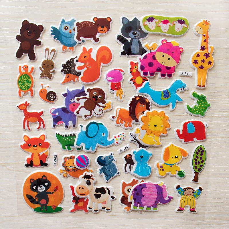 Cute Wildlife Wild Safari Park Animals Scrapbooking Bubble Puffy Stickers 6 Sheets Kawaii Emoji Reward Kids Toys For Children Cute Wildlife Wild Safari Park Animals Scrapbooking Bubble Puffy Stickers 6 Sheets Kawaii Emoji Reward Kids Toys For Children