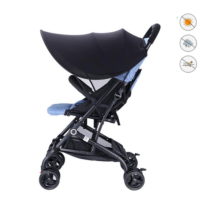 Baby Seat Canopies Accessories Universal Stroller Canopy Extender Sun Shade Removable Awning For Baby Carrier Infant Pram