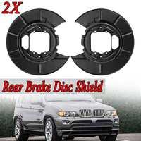 2Pcs New Rear Brake Disc Shield Shell For BMW X5 E53 2000 2006 Black Brake Caliper & Brake Slave A1080
