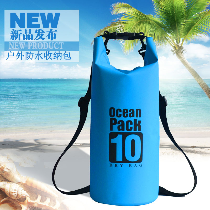 10L 20L 30L PVC Waterproof Dry Bag Outdoor Diving Foldable Storage Bag Rafting Kayaking Camping Floating Sailing Backpack