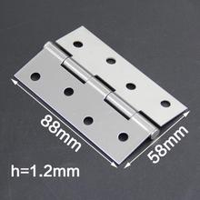 1pair 2/3/4 inch Hinge Stainless Steel Flap Hinge Counter Back Flap Backflap Hinge