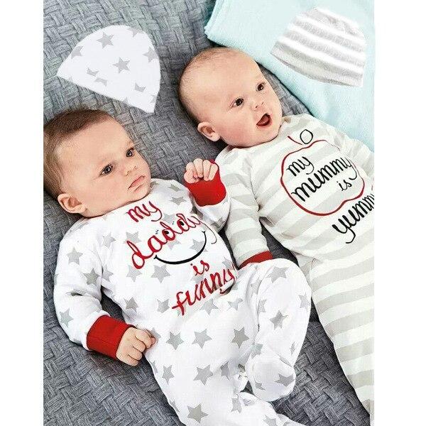 Осенняя одежда в европейском стиле с длинными рукавами для маленьких мальчиков и девочек Одежда для новорожденных с длинными рукавами, пла