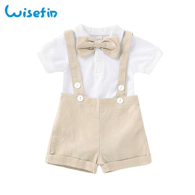 5e1065589bd47 Wisefin Newborn Boy Clothing Set Summer Little Gentleman Clothes For Baby  Boy Short Sleeve Infant Boys ...