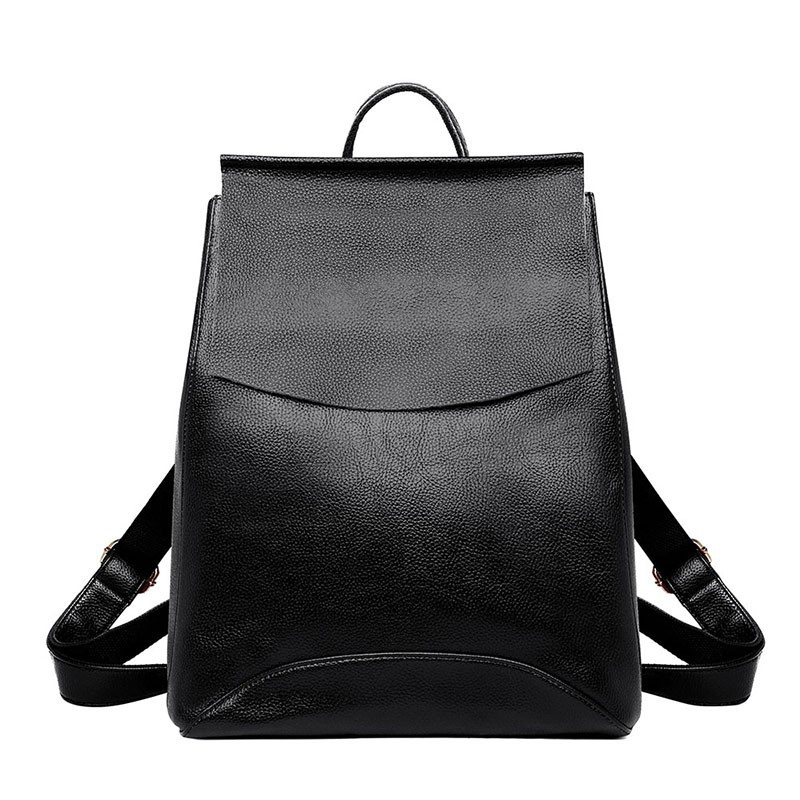 2019 Women Leather Backpacks High Quality Sac A Dos School Bags For Girls Vintage Bagpack Travel Large Capacity Daypack Female