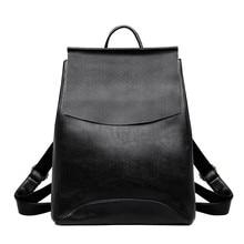 2019 femmes sacs à Dos en cuir de haute qualité Sac A Dos sacs décole pour filles Vintage Sac à Dos voyage grande capacité Sac à Dos femme